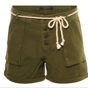 Scotch & Soda Womens Woven Cotton Shorts